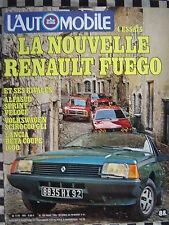 revue L'AUTOMOBILE 1980 RENAULT FUEGO / ALFASUD SPRINT VELOCE / SCIROCCO GLi