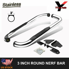"Fits 1987-2006 Jeep Wrangler TJ YJ 3"" Nerf Bars Pair Set Side Step Running Board"