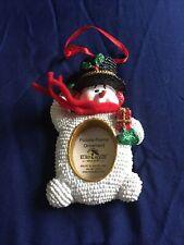 Kurt S Adler Snowman Christmas Picture Frame Ornament