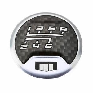 Gen 6 Camaro Carbon Fiber & Silver Shift Knob CAP SS and ZL1 Models