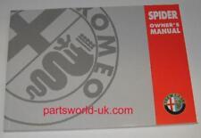 Alfa Romeo 916  Spider Owners User Manual 248 Pages New Genuine Original