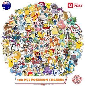 100 Pcs Pokemon Vinyl Stickers
