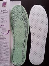 2 semelles en coton et Latex, semelles à découper Multi-tailles,mixte