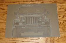 Original 2002 Jeep Wrangler Deluxe Sales Brochure 02