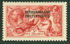 SG 84 Bechuanaland 1914-15. 5/- rose-carmine. Lightly mounted, well centred...
