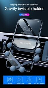 Universal Gravity Phone Holder Car Air vent Mount Stand for iPhone