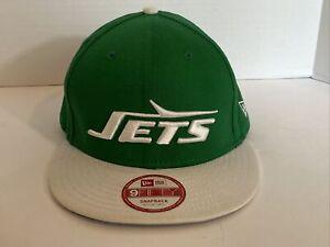 9 Fifty New York Jets Snapback Cap Size Medium Large Green White