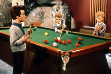 Thunderbirds 11x17 Mini Poster Tracy family playing pool table
