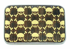 Skull Belt Buckle Dark Bronze Ridged Finish Gothic * UK Seller * Easy Returns *