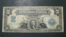 1899 $2 TWO DOLLARS LARGE SIZE SILVER CERTIFICATE NOTE - FINE Condition