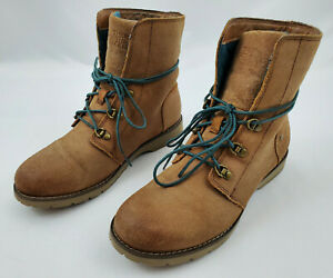 The North Face Light Brown Ballard Lace Hiking Combat Boots Womens Size 7