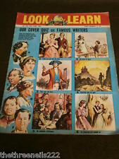 LOOK and LEARN # 180 - FAMOUS WRITERS QUIZ - JUNE 16 1965