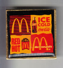 RARE PINS PIN'S .. MC DONALD'S RESTAURANT RED HOT ICE COCA COLA ~13