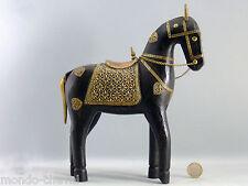 CHEVAL BOIS ET CUIVRE, Inde, 25 cm,  mondo-cheval, horse