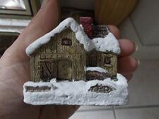 "BNIB 1989 American Rustic Handpainted ColdCast Cottage 'Blacksmith Shop' 3"" High"