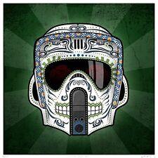 "3"" Star Wars Biker Scout Trooper Sugar skull sticker / decal. Jedi Empire yoda"
