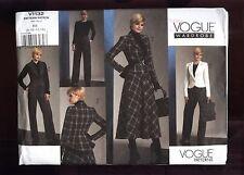 Vogue #1132 Misses' Jacket/Skirt & Pants Wardrobe Sz  8-14 UC FF  © 2009