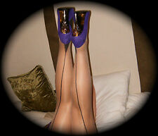 Contrast Seamed Stockings & Hold-Ups with Cuban Heels Choice of colour