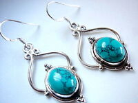 Turquoise 925 Sterling Silver Dangle Drop Earrings Fashion Gift New