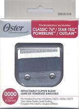 Original OSTER Blade Size 0000 For Classic 76 Star-Teq Power-Teq Titan 76918-016