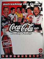 Coca Cola Nascar Racing Family Sign Old Store Stock