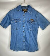 Harley Davidson Denim Button Up Shirt - Women's Medium