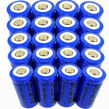 20pcs 16340 Batteries CR123A LR123A 3.7V 1200mAh Rechargeable Li-Ion Battery USA