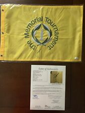 Jack Nicklaus Hand Signed The Memorial Golf Tournament Flag JSA LOA