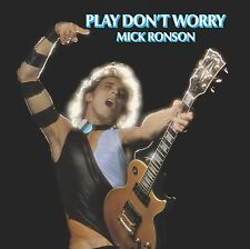 "Mick Ronson ""Play Don't Worry"" (140 gm blue/white swirl vinyl, Drastic Plastic R"