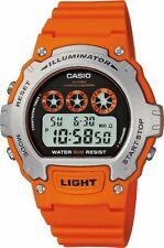 Casio Men's Orange Resin Strap/Case Illuminator LCD Digital Watch