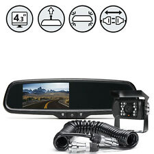 Rear View Camera System + Replacement Mirror Monitor + Quick Connect/Disconnect