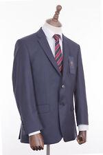 Men's Suit Savile Row Alexandre Navy Blue Check 2 Piece Regular Fit 42R W36 L31