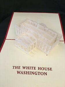 White House 3D Pop Up Card Washington DC President Trump US Government RNC DNC