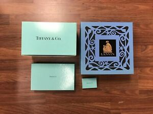Designer Tiffany & Co Lanvin Empty Gift Box Lot With Wrapping & Accessories