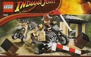 LEGO INDIANA JONES MOTORCYCLE CHASE 7620 ALL MINIFIGURES 100% COMPLETE GUARANTEE