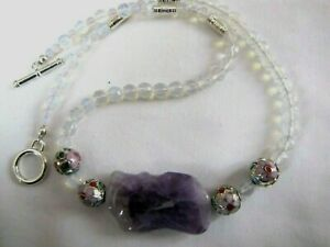 18 1/2'' Amethyst and Cloisonnée beads necklace