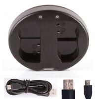 Dual Battery Charger for Nikon EN-EL15 MH-25 D850 D7500 D500 D7200 D750 D800 SLR