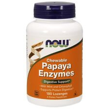 Now Foods Papaya Enzyme Chewable 180 Tabs Made in USA FREE SHIPPING