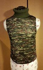 Mesdames NAFNAF vert camouflage argent brillant femme taille S