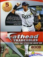 2009 Fatheads MLB Baseball Tradeables CASE(10 Factory Sealed Boxes)-50 Stickers