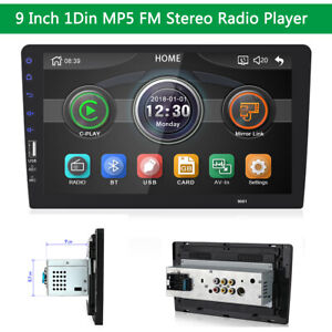 "9"" Single 1Din Stereo Radio FM MP5 Player Touch Screen WINCE Head Unit Universal"