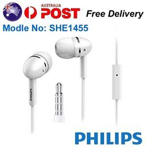 PHILIPS Wired Earphones Headphones Earbud Sports Running Mic Headset Extra Bass