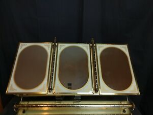 VINTAGE French Country Three Way Wall Mirror LINCOLN BEAUTYWARE Medicine Cabinet