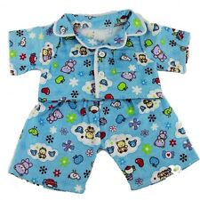 "Blue Cozy Pigiama Pjs Teddy Bear Outfit Teddy Bear vestiti adatti a 15"" Build A Bear"