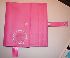 Narcotics Anonymous NA Basic Text How and Why Pink  Deluxe 3  Book  Tri Cover