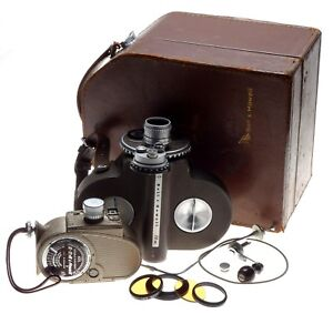 Bell & Howell Filmo 70DR 16mm Movie Camera 605 Double Run 8mm Lenses Filters