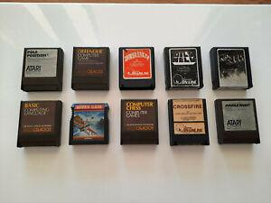 Rare Bulk Lot, 10x Atari 400/800/XL/XE Game/Software Cartridges, Vintage Retro