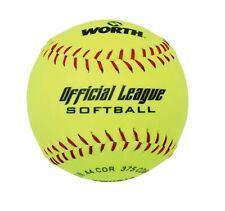 "12"" Worth Yellow Official League Softball Ball"