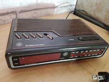 Vintage GE 7-4612B AM/FM Alarm Clock Radio Digital General Electric, Woodgrain