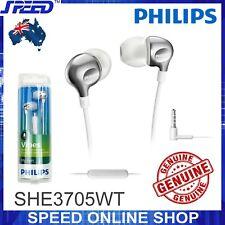 PHILIPS SHE3705WT Headphones Earphones with MIC - WHITE - GENUINE